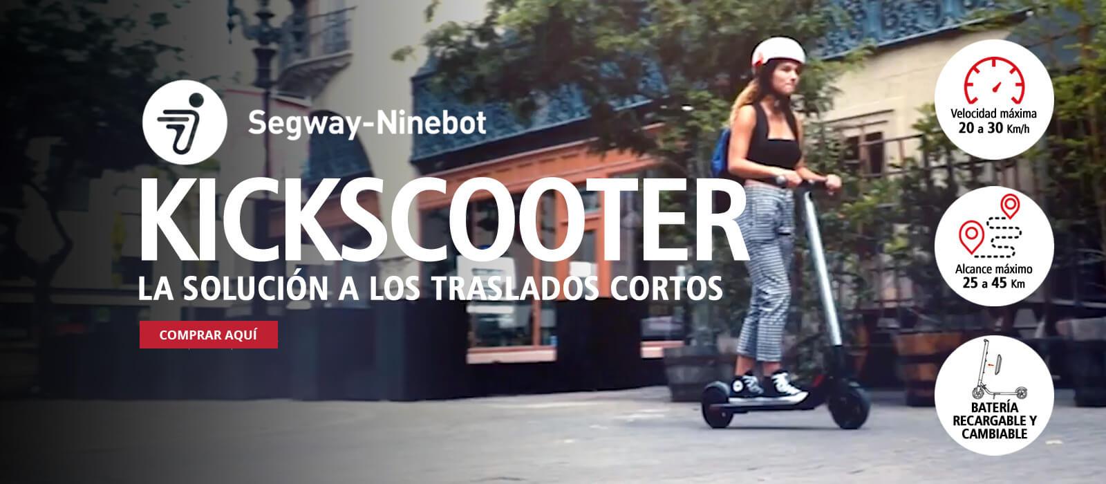 Perubikeshop - Segway-Ninebot Kickscooter - La solucion a los traslados cortos